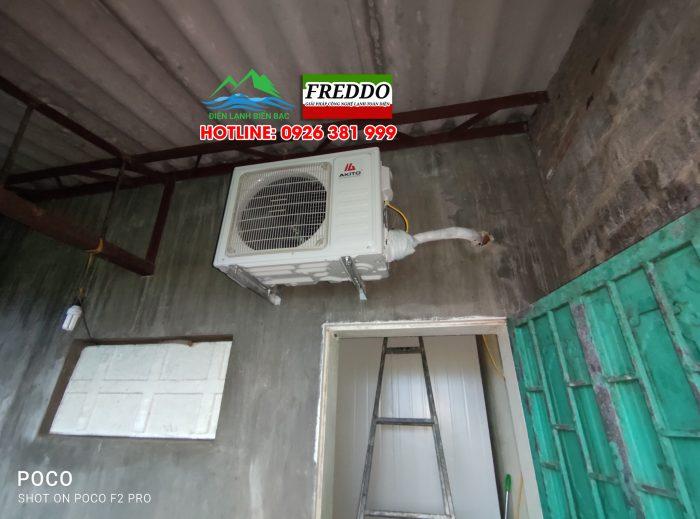 Treo dàn nóng, đấu và chạy thử kho lạnh và nghiệm thu