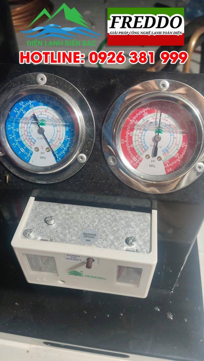 Chạy test thử dàn nóng cho hệ thống kho lạnh