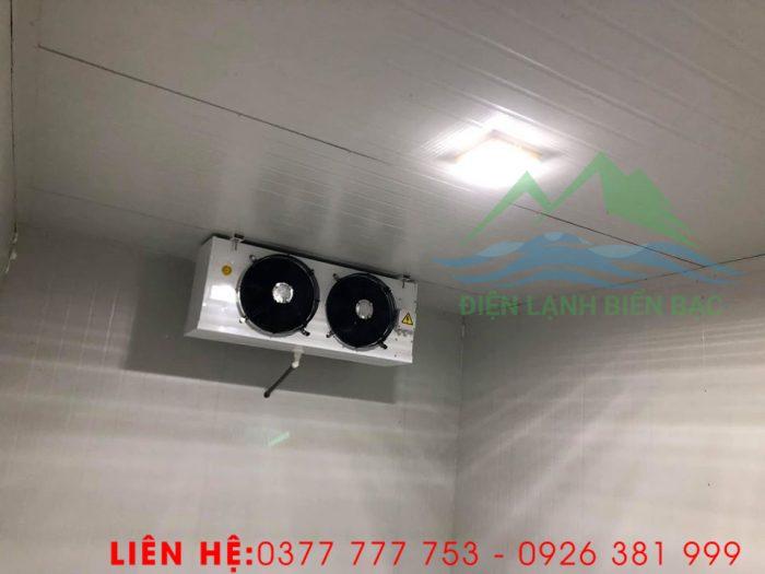 thi công và lắp đặt kho lạnh bảo quản rác thái y tế - lắp dàn lạnh và hoàn thiện kho lạnh